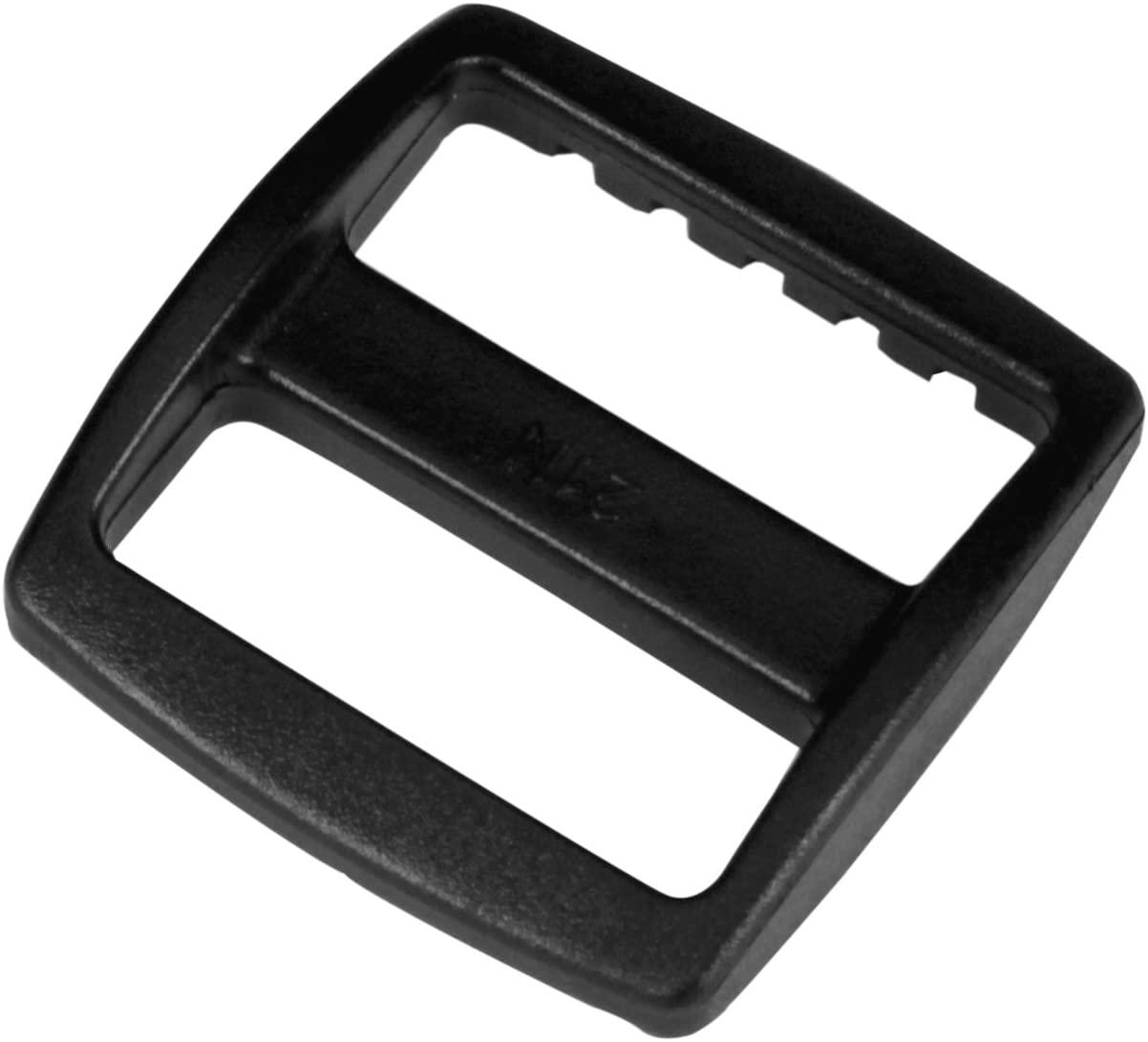 Strapworks Black Plastic Wide Mouth Tri-Glide Slide – for Bag Straps, Rifle Slings, Dog Collars - 1 Inch