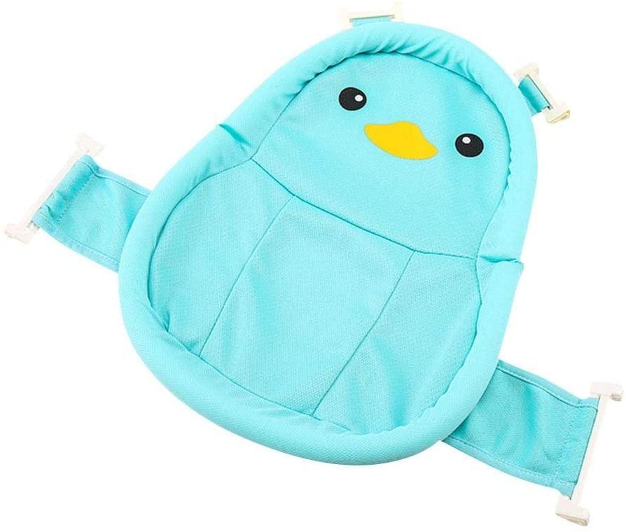 weemoment Newborn Baby Bath Seat Support Net, Baby Bath Net with Cute Pattern, 19.09 X 24.21in, Blue/Pink