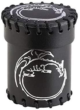 Q WORKSHOP Dragon Black Leather Dice Cup