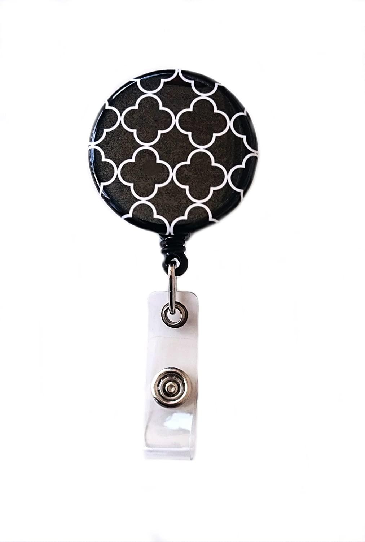 Trellis Retractable Badge Reel ID Badge Holder (Black)
