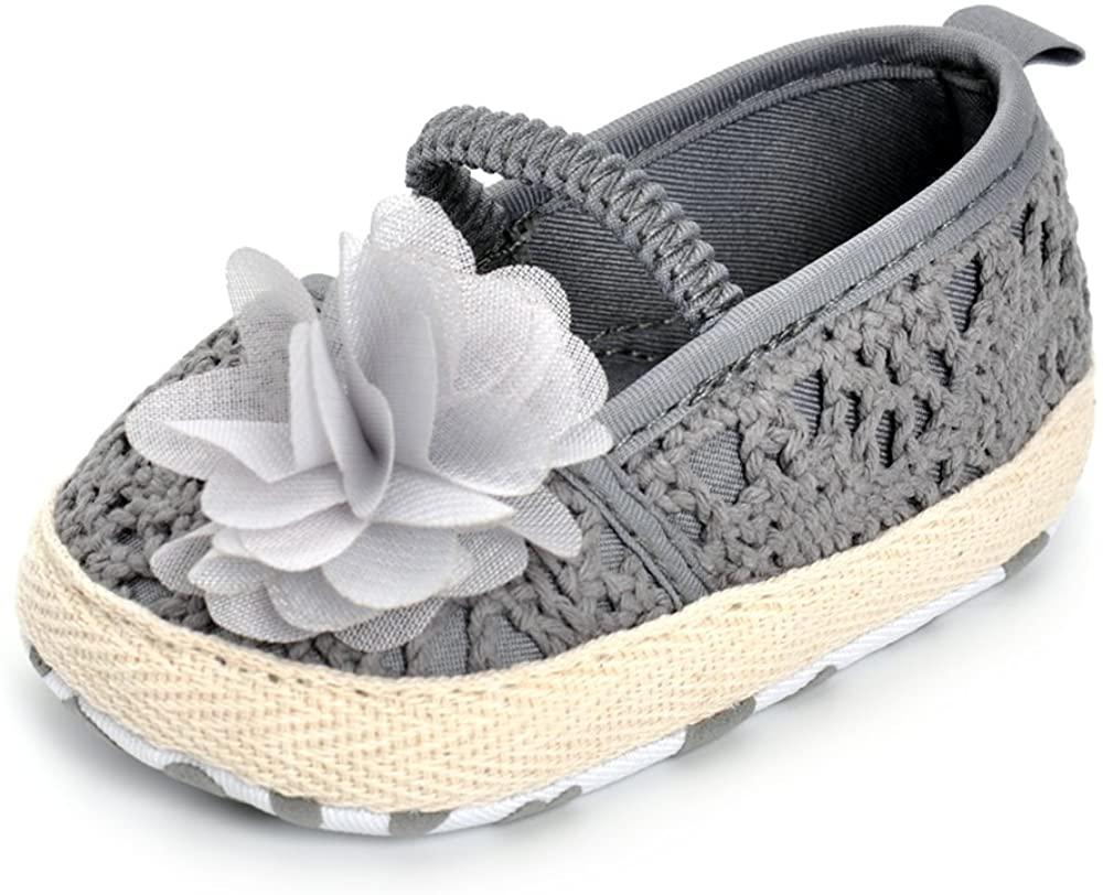 Infant Girls Shoes Floral Net Yarn Ballerina Shoes