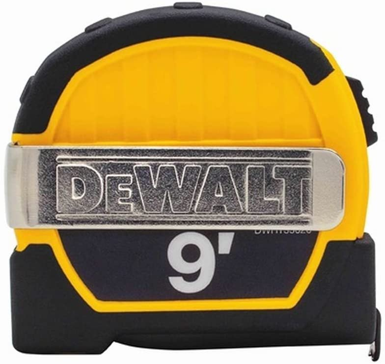 Dewalt DWHT33028M 4 Pack 9ft. Magnetic Pocket Tape Measure, Black and Yellow
