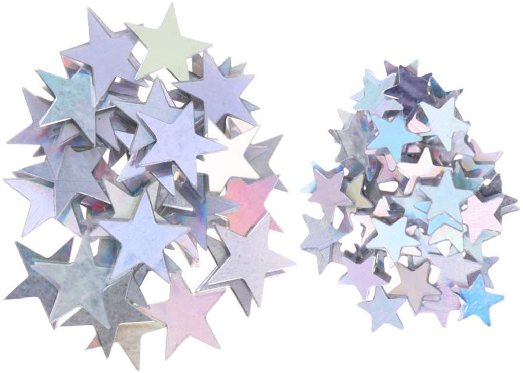 Toyvian 120g Star Confetti Pentagram Paillette Ornaments Table Confetti Decoration Balloons Filler Five-Pointed Star Confetti for Wedding Birthday Party