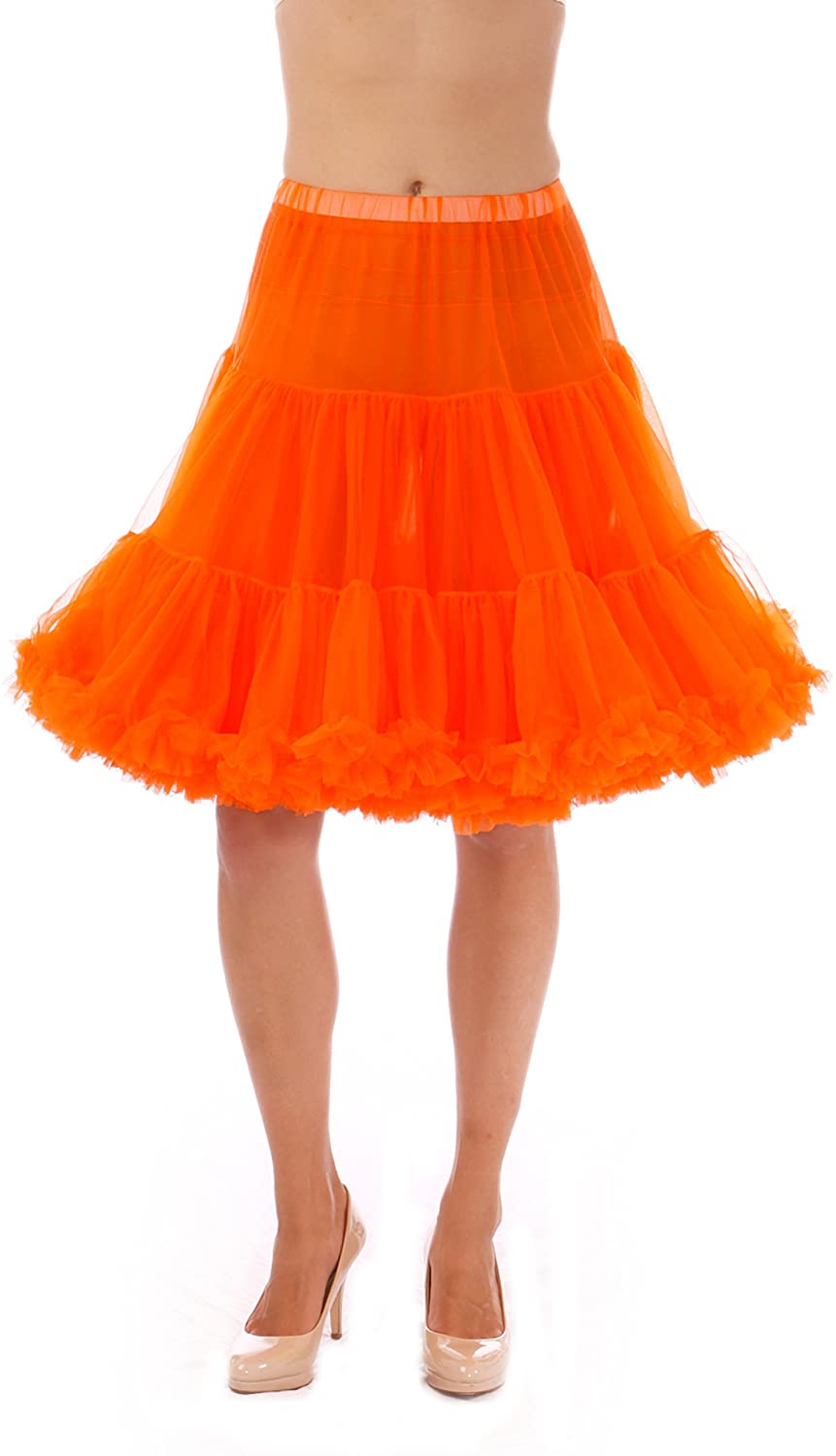 Malco Modes Jennifer Luxury Vintage Knee-Length Child Pettiskirt, Tutu for Costumes or Everyday Clothes