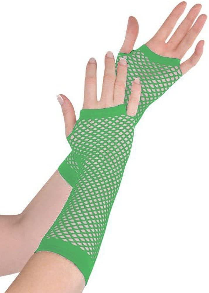 amscan Green Fishnet Long Gloves (Standard)