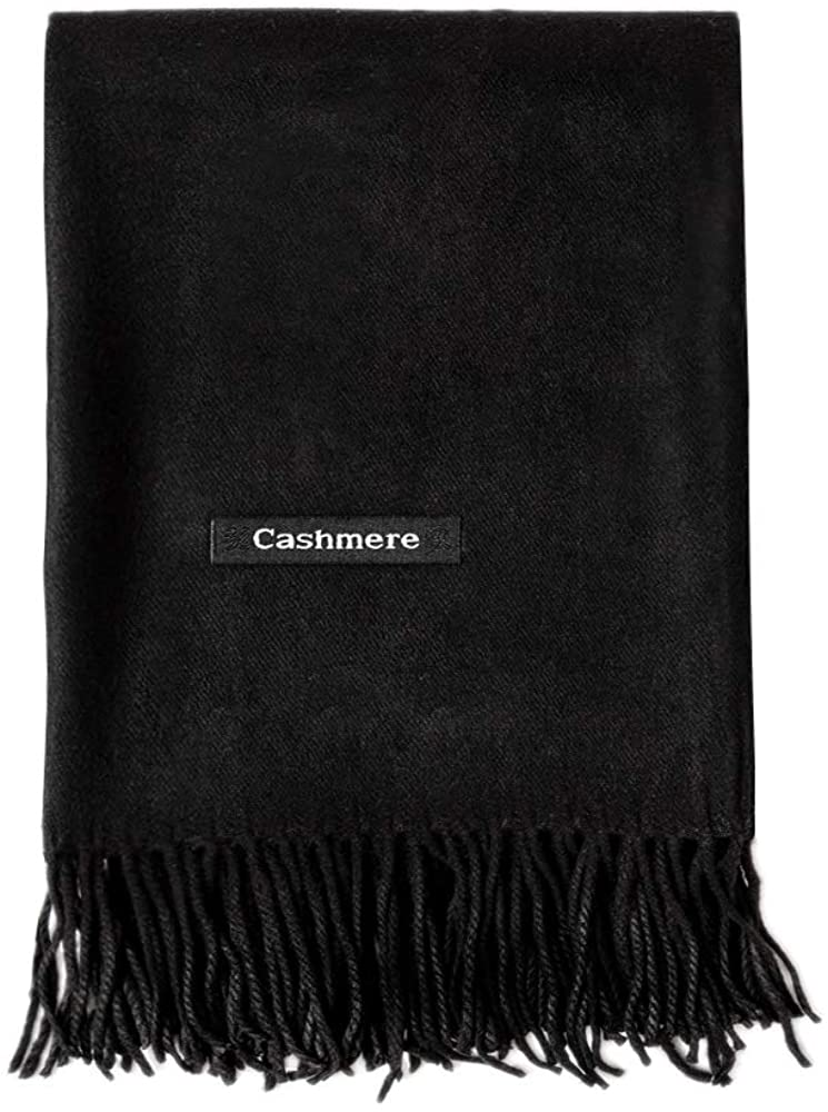 WY Thick Cashmere Scarf For Women Ladies Gift Idea Extremely Warm Soft Wool Wrap Shawl Stole For Winter Autumn And Spring