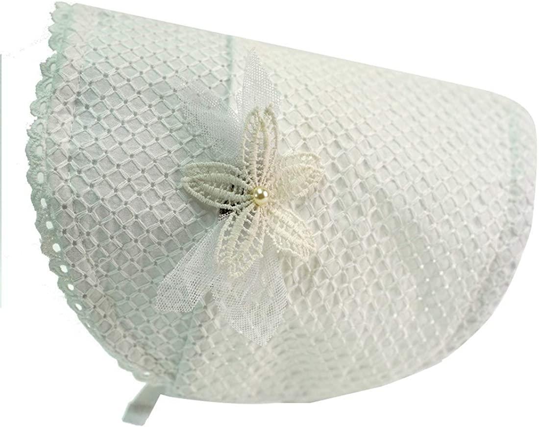 Lanxjoyss Toddler hat Baby Bonnet Newborn hat 0-18months LaceBonnet Court hat 100% Breathable Cotton Hat