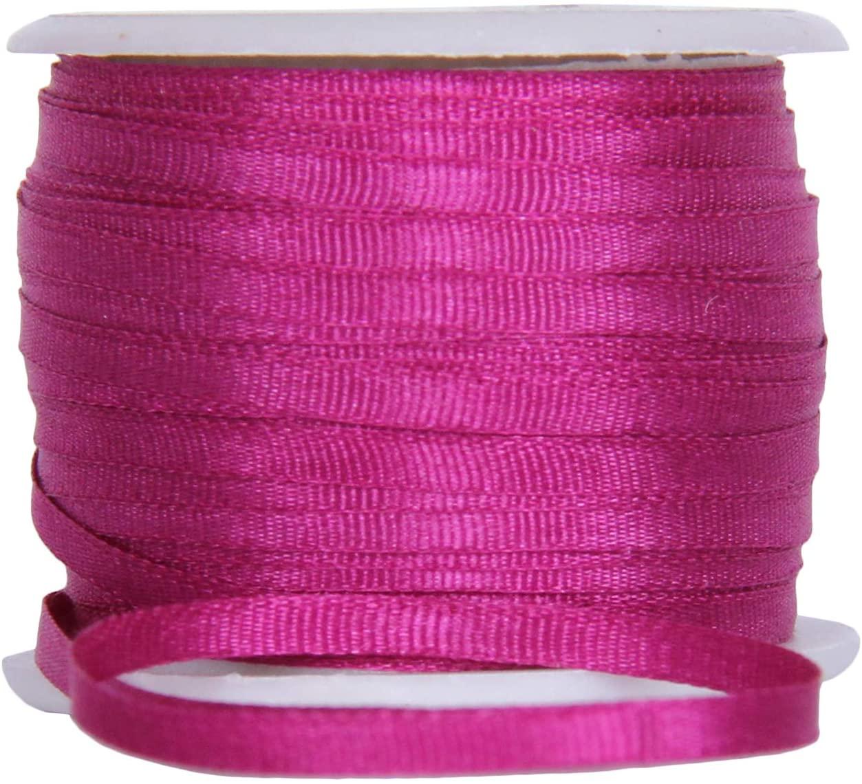 Threadart 100% Pure Silk Ribbon - 2mm Mulberry - No. 568-3 Sizes - 50 Colors