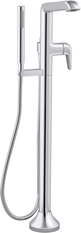Kohler K-T22025-4-CP Kohler K-T22025-4 Tempered Floor Mounted Tub Filler - Includes Hand Shower