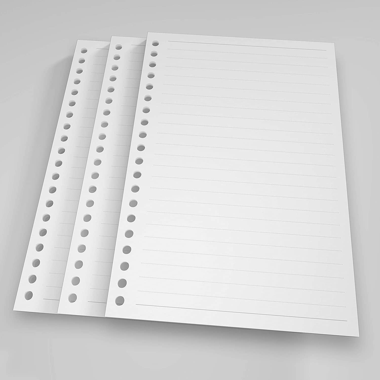 20-Hole Ring Binder Loose Leaf Paper, A5 Filler Paper Ruled (180 Sheets - 360 Pages, Ruled)