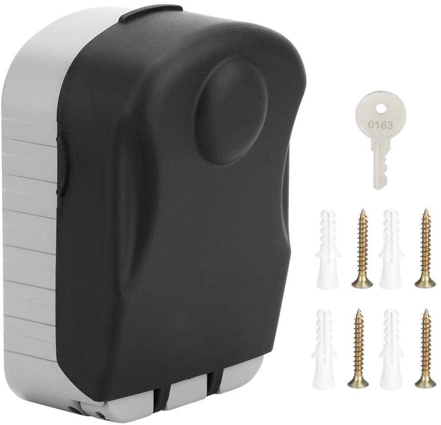 TOPINCN Key Lock Box Aluminum Alloy Household Wall-Mounted 4 Digit Password Waterproof Anti-Theft Storage Case Large Capacity
