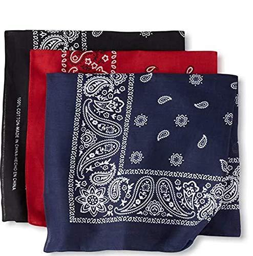 3 Pieces Bandanas Head Wrap Scarf Wristband Bandanas Cowboy Bandana Face Cover Headband Scarfs Headwraps, Handkerchiefs For Men And Women