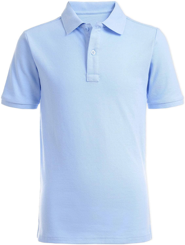 Nautica Boys' Toddler School Uniform Short Sleeve Pique Polo, Light Blue, 3T