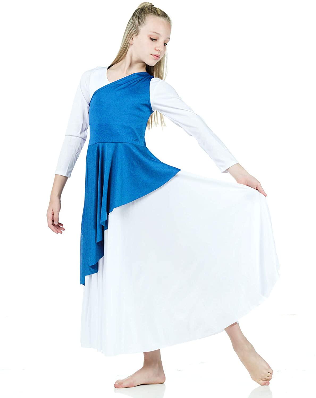 Danzcue Girl's Asymmetrical Praise Dance Tunic