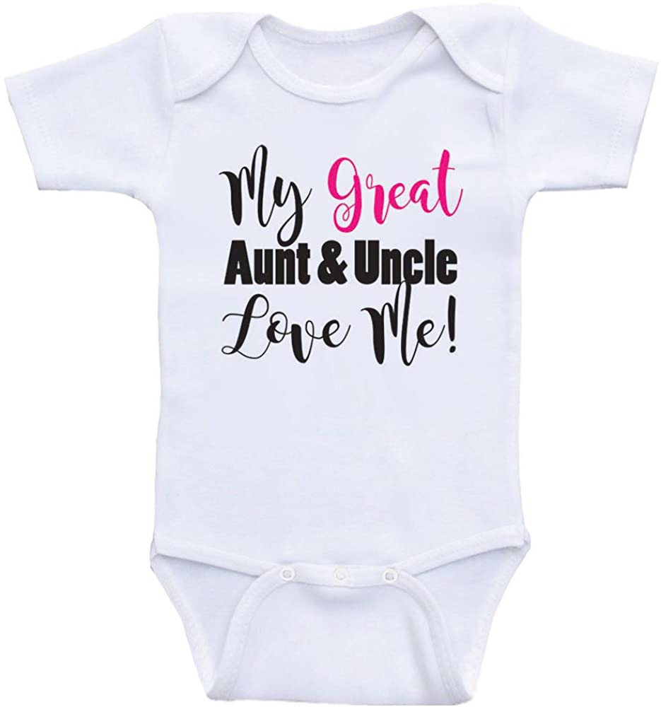 Great Aunt Uncle Baby Clothes My Great Aunt and Uncle Love Me Baby Onesies