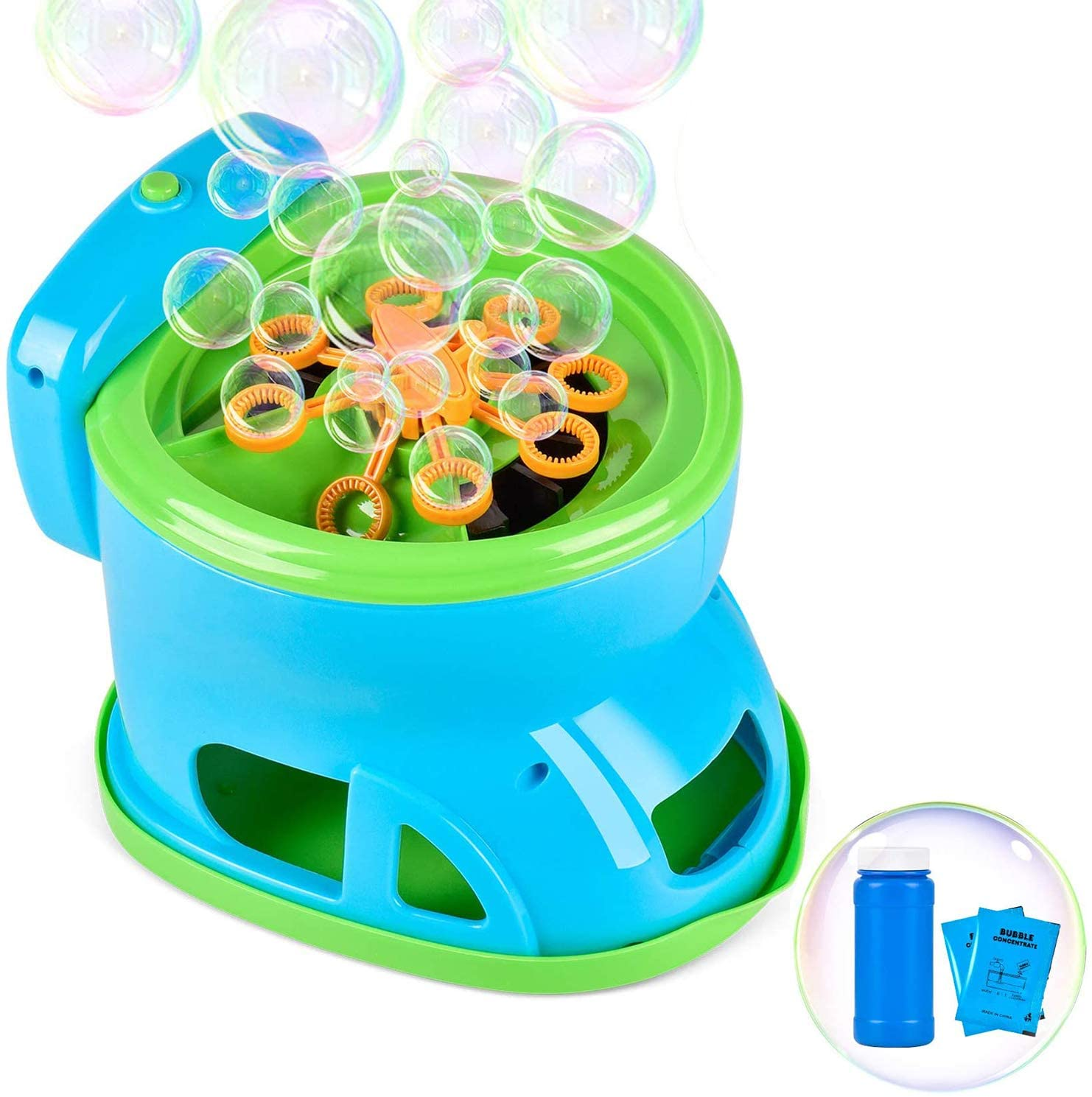 Bubble Machine, Automatic Bubble Maker Cartoon Toilet Bubble Blower Toy Over 2100 Bubbles Per Minute for Kids Boys Girls Easy to Use for Indoor Outdoor Party Wedding Baby Showers