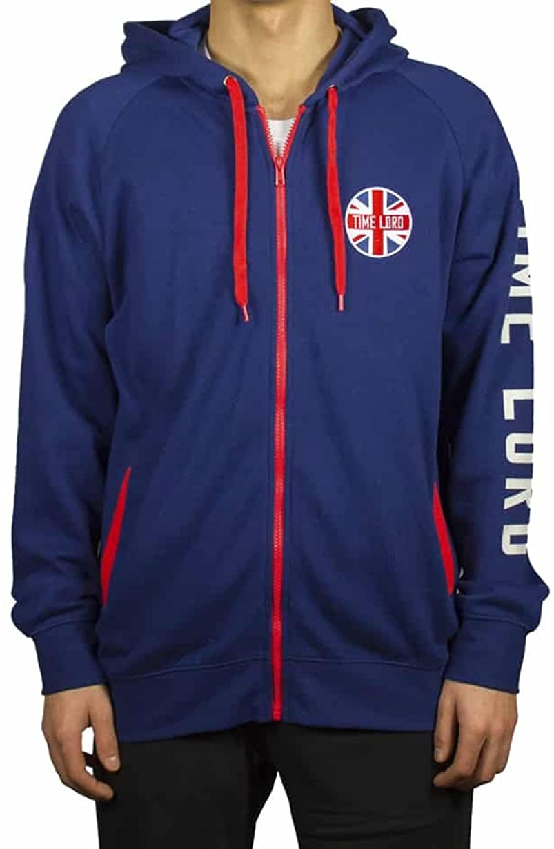 Ripple Junction Doctor Who Time Lord Union Jack Adult Zip Hoodie
