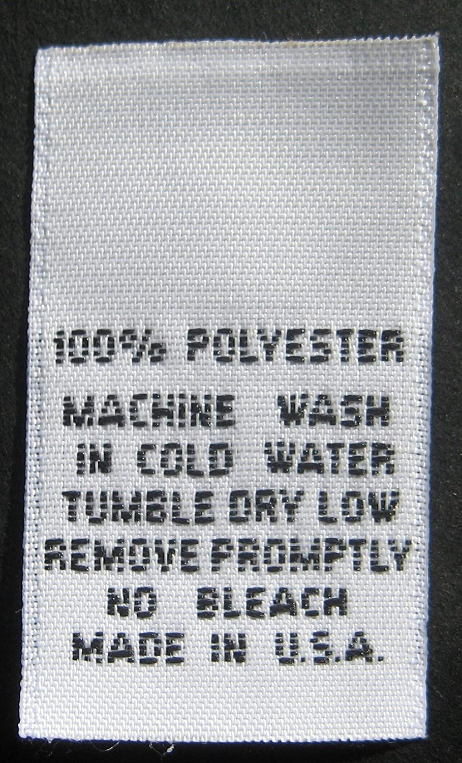 100 PCS WOVEN CLOTHING LABELS, SIZE TAGS - 100% POLYESTER