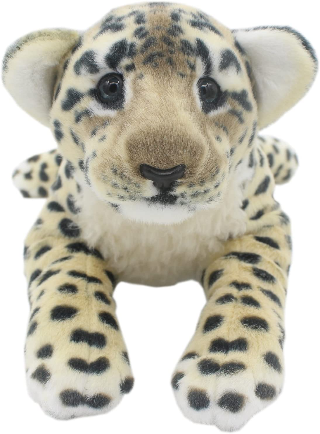 TAGLN The Jungle Animals Stuffed Plush Toys Tiger Leopard Panther Lioness Pillows (Brown Leopard, 19 Inch)