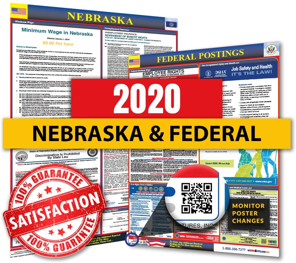 2020 Nebraska State & Federal Labor Law Posters for Workplace