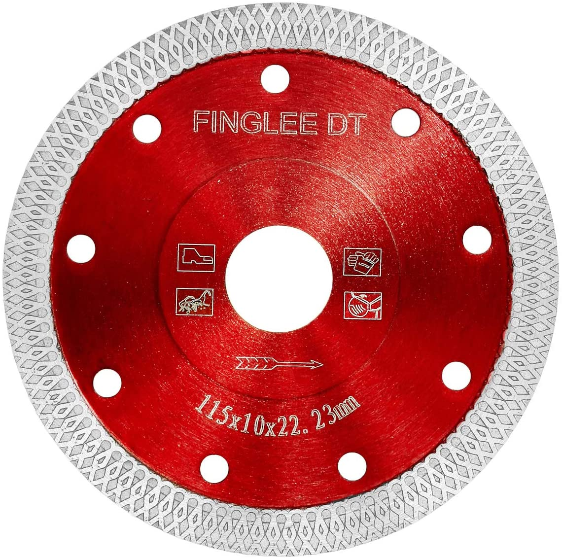 FINGLEE DT 4.5 Inch Super Thin Diamond Saw Blade for Porcelain Tile Ceramic,Diamond Cutting Blade,with 7/8