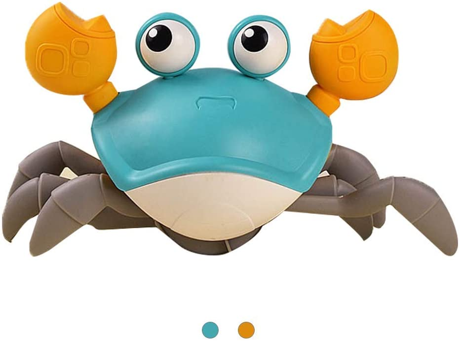 SPOOTEY Baby Bath Toys for Toddlers,Pool Toys Floating Upgrade Crab Interactive, Cute Cartoon Crab Toy (Blue)