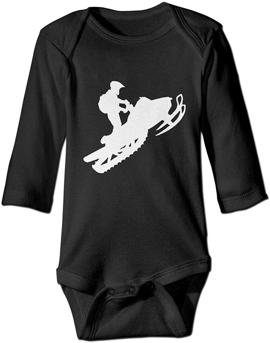 Snowmobile Newborn Baby Unisex Long Sleeves Romper Jumpsuit Black