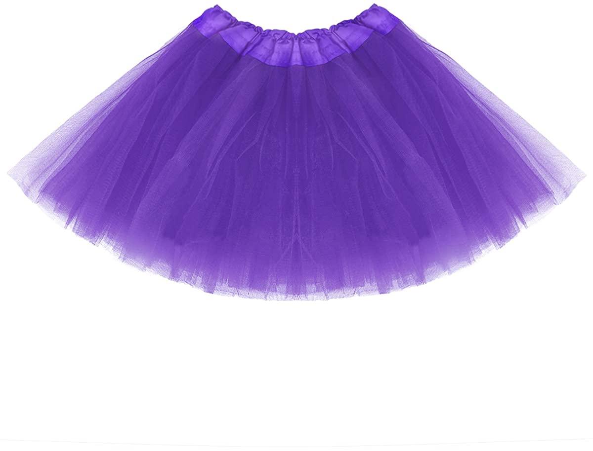 belababy Girl Tutu Skirt, 3 Layered Fluffy Tutus, Ballet Dance Dress Up for 2-8 Years Children
