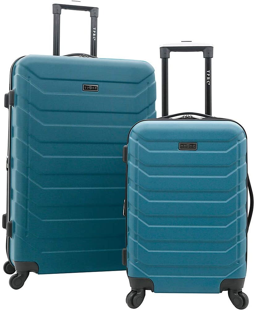 TPRC Expandable Spinner Hardside Luggage Set, Teal, 2-Piece (28
