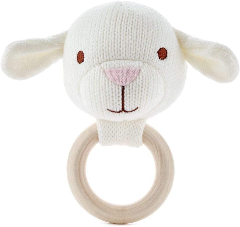HMK Hallmark Soft Lamb Baby Rattle and Teether