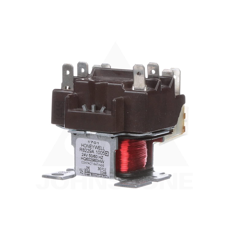 Honeywell, Inc. R8229A1005 Electric Heat Relay, 24 Vac, DPST