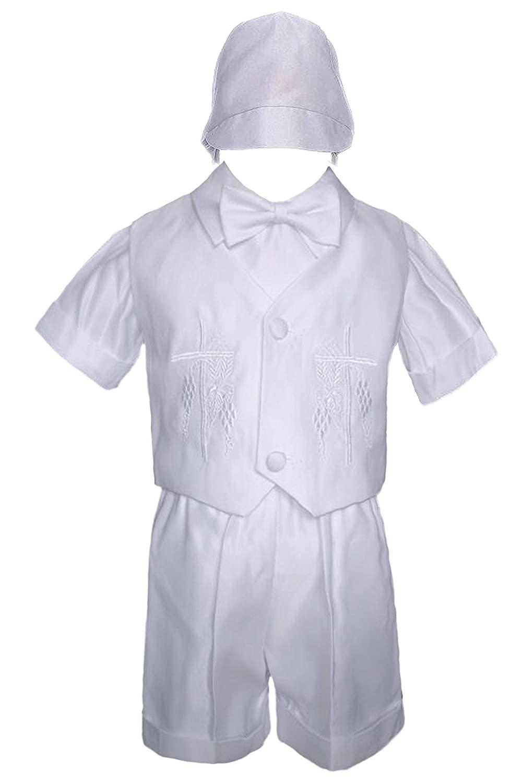 Unotux Baby Boy Christening Baptism White Vest Set Suit (0M-36M) (4T)