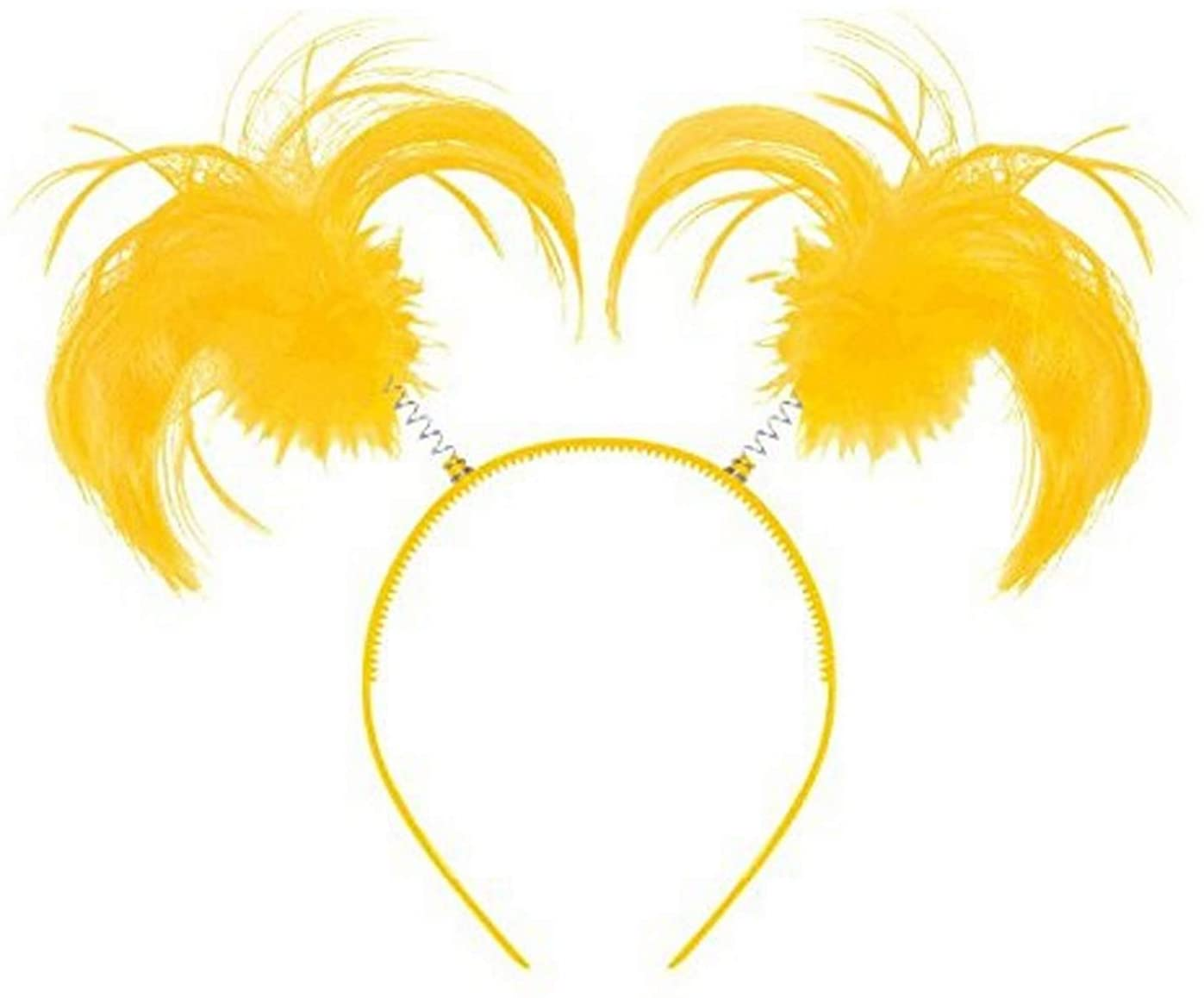 Amscan Tinsel Wrapped Ponytails Headbopper Accessory, Yellow, One Size Party Hats, 8 x 5