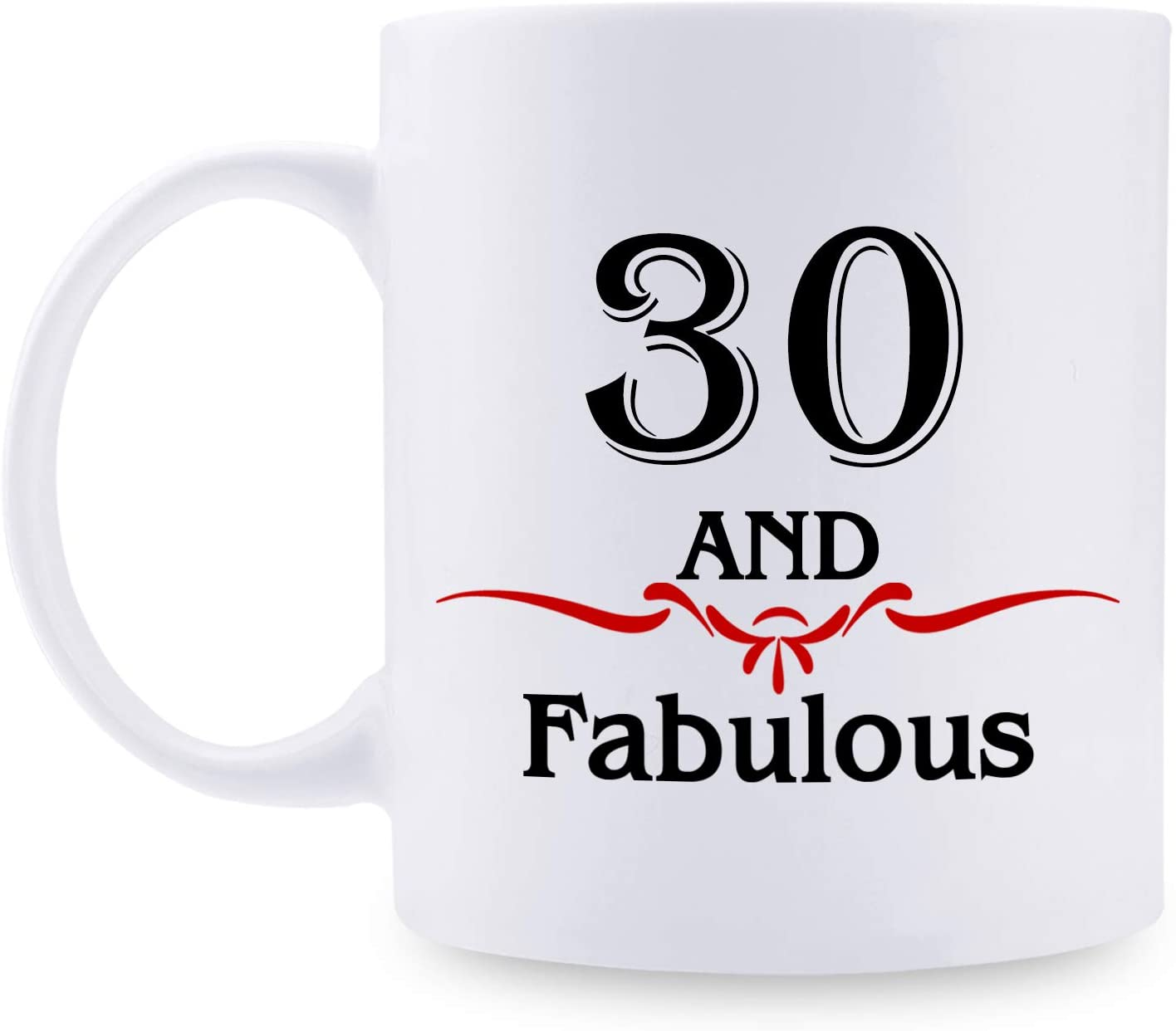 30th Birthday Gifts for Women - 1990 Birthday Gifts for Women, 30 Years Old Birthday Gifts Coffee Mug for Mom, Wife, Friend, Sister, Her, Colleague, Coworker - 11oz Mug, 30 and Fabulous
