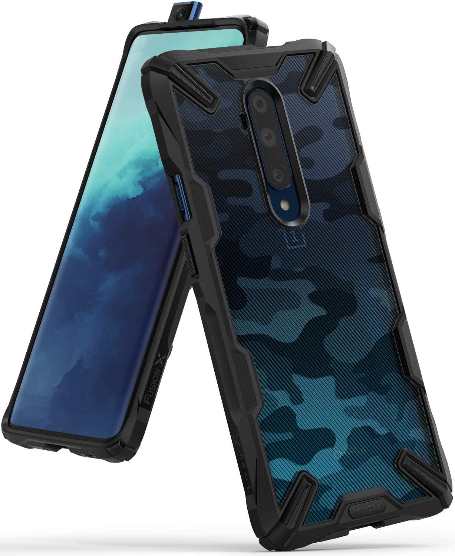 Ringke Fusion X Design Case Designed for Both OnePlus 7T Pro, OnePlus 7T Pro 5G Model (2019) - Camo Black