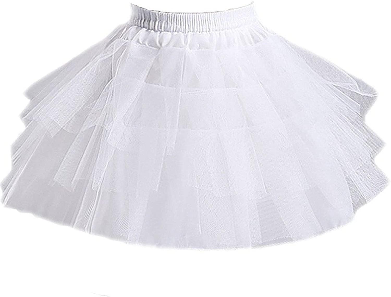 Girls 3 Layers Wedding Flower Girl Petticoat fluffy petticoat