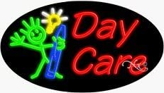 Day Care Neon Sign - 17 x 30 x 2 inches - Made in USA