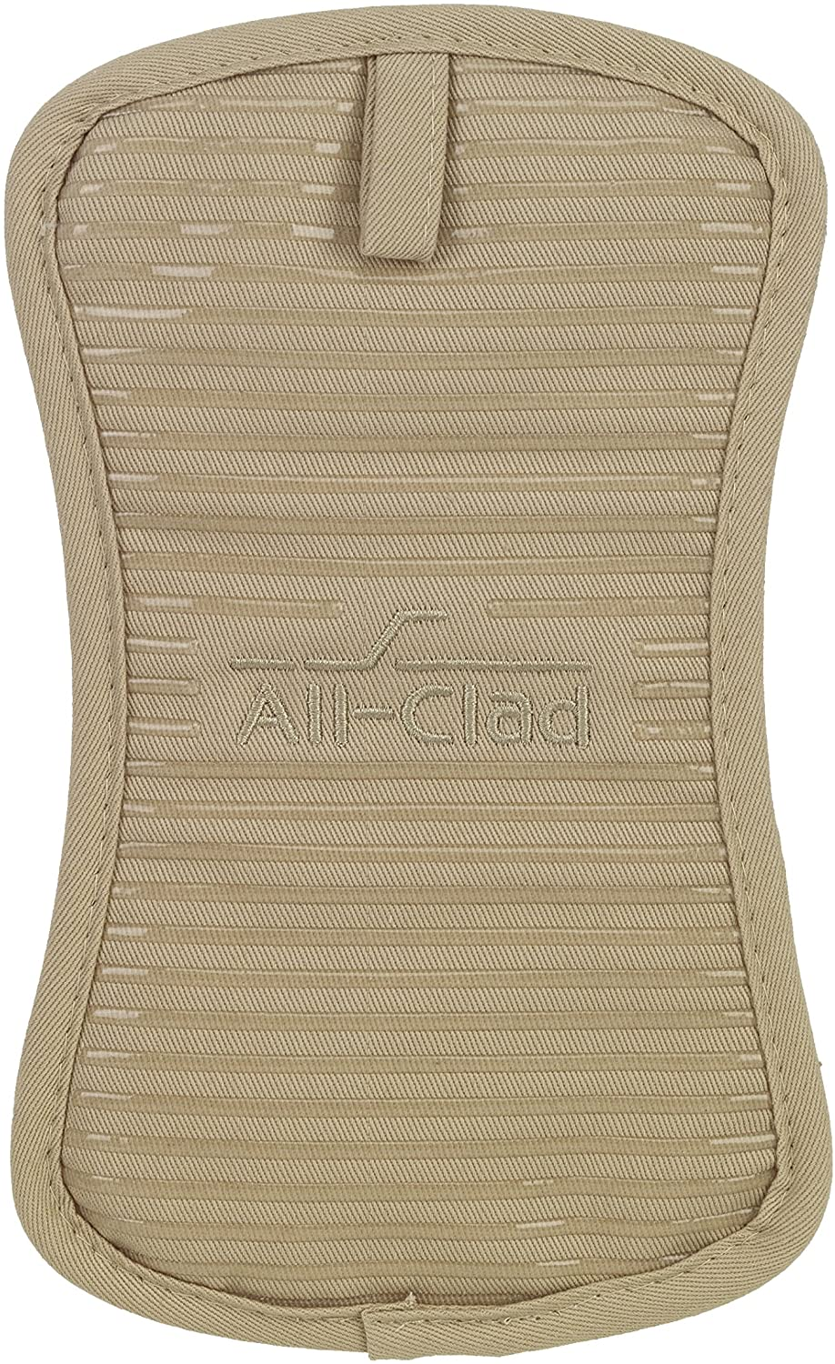 All-Clad Textiles Deluxe Heat and Stain Resistant Pot Holder. Silicone Treated Heavyweight 100-Percent Cotton Twill Hot Pad, Machine Washable, 6-inches by 10-inches, Cappuccino Brown