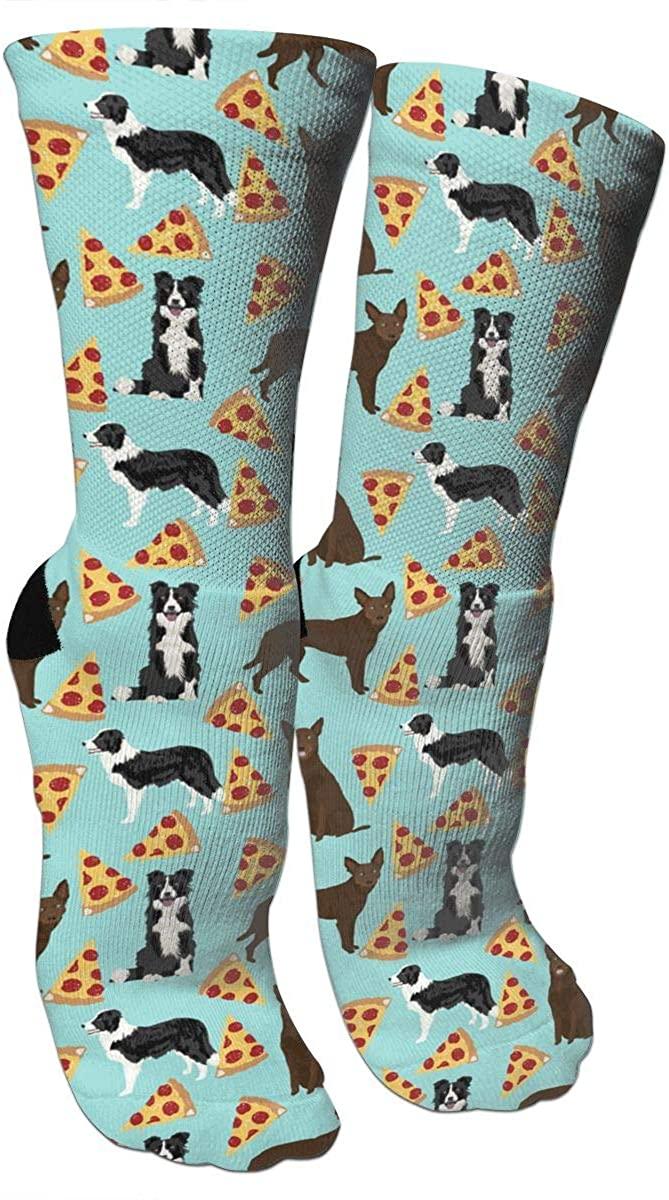 Australian Kelpie Border Collies Pizza Crazy Socks 3D Crew Socks