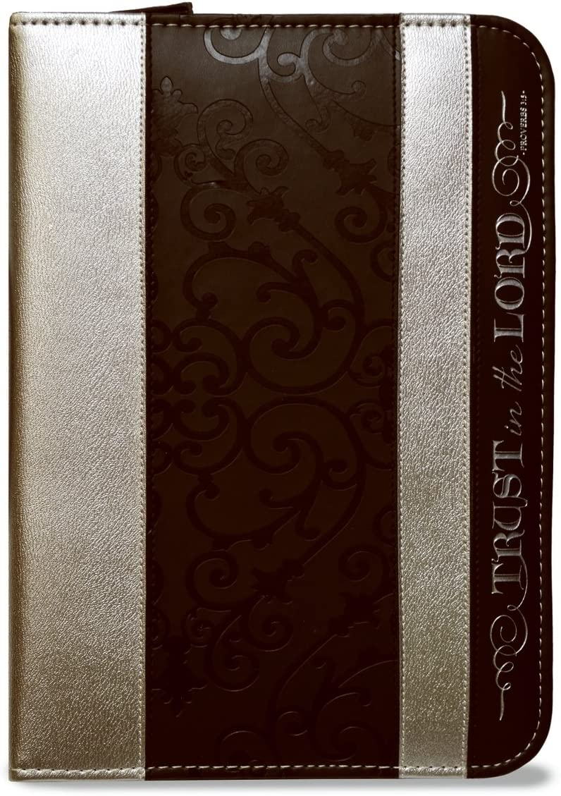 Journal -2018 Divine Details-Zippered-Black and Silver-Trust in the Lord