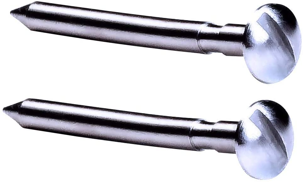 Pine Derby Machined 2.5 Degree Bent Axles with Easy Turn Screw Driver Slot – Polished Grooved and Nickel Plated Axles for Rail Riding or Canting Rear Axles – (2 axles)