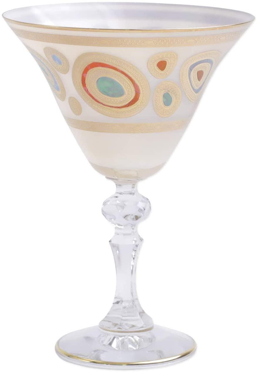 Vietri Regalia Cream Martini Glass