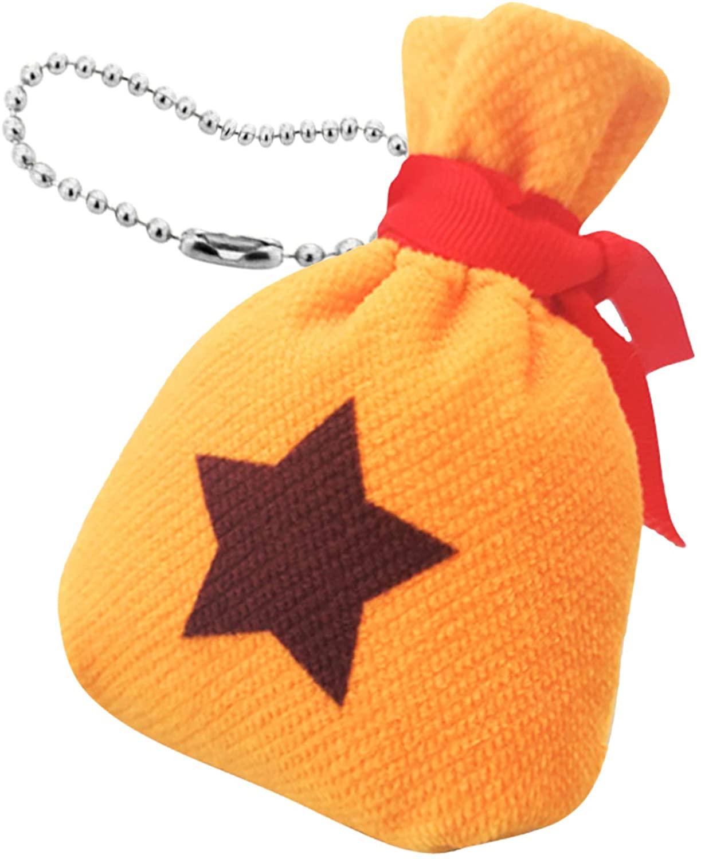 YuDanae Animal Mini Bell Bag Keychain Crossing Canvas Portable Storage Bag Wallet 3.5� x 4.7�