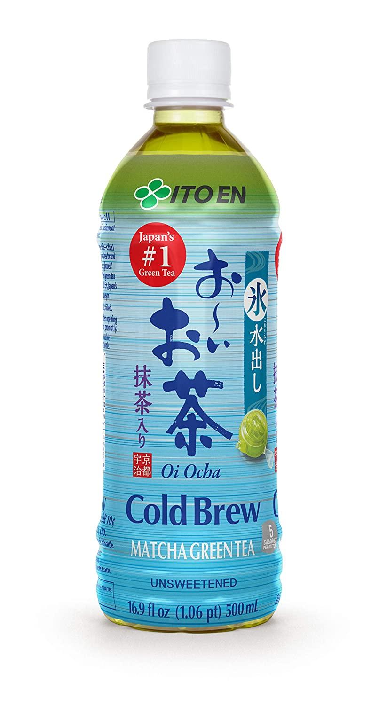 Ito En Oi Ocha Cold Brew Matcha Green Tea Unsweetened 16.9 Ounce (Pack of 12), Zero Calories