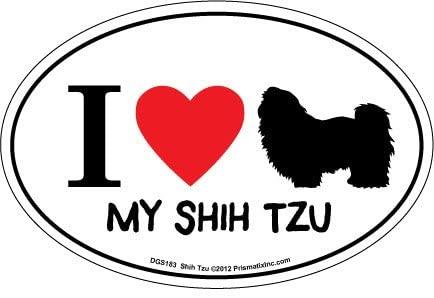 Prismatix Decal I Love My Shih Tzu