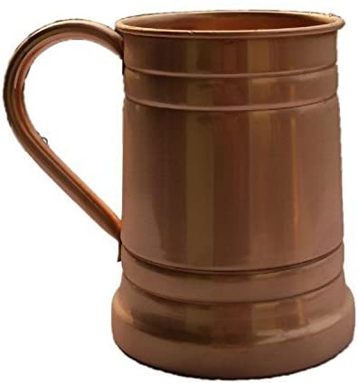 Tankard Large Moscow Mule Copper Mugs, 20 Oz - Handmade of 100% Pure Copper Mug/Cup Size-20 Ounce (1)