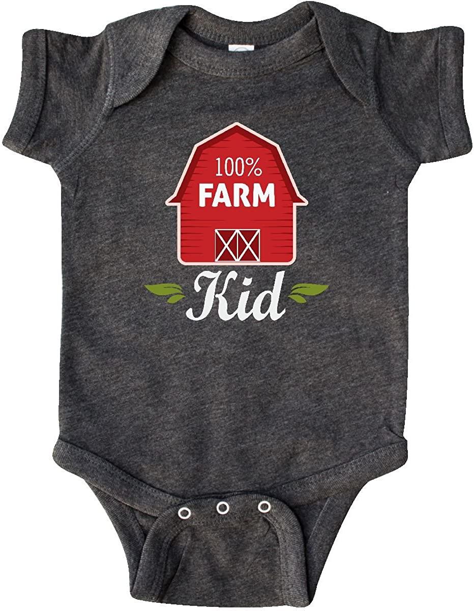 inktastic 100 Percent Farm Kid Infant Creeper