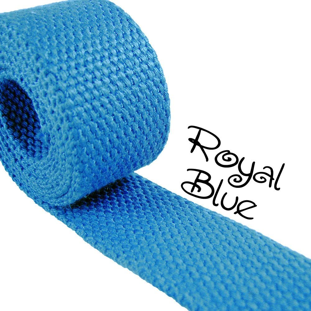 Royal Blue - Heavy Canvas Webbing Roll 1.25