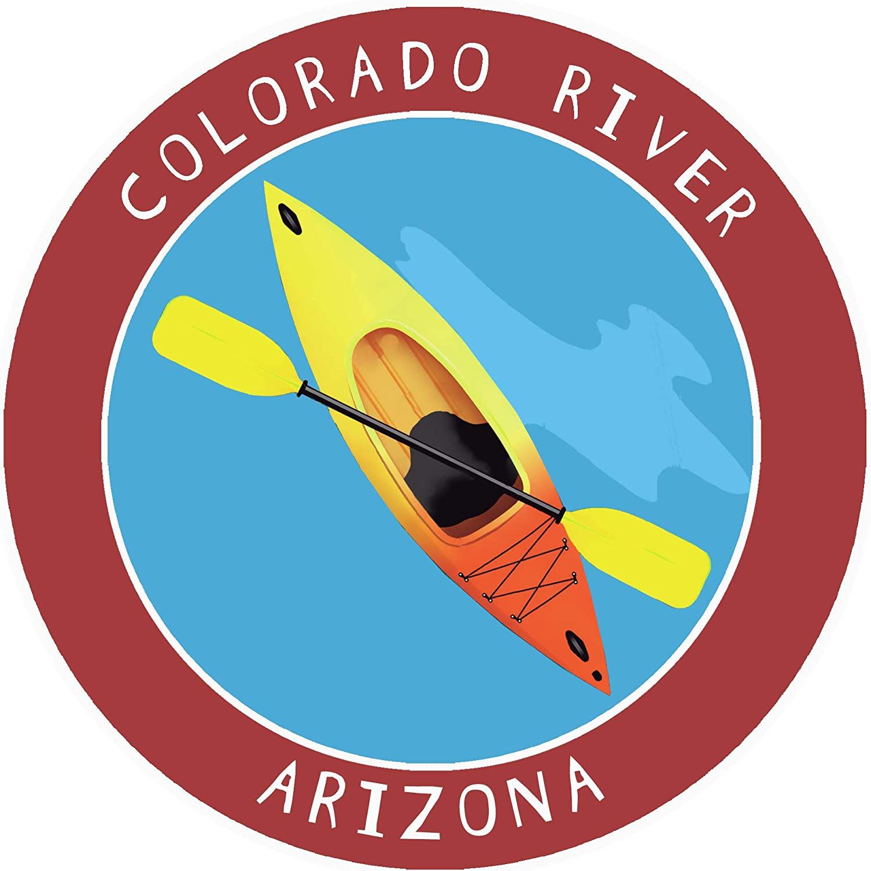 Colorado River, Arizona Kayak Decorative Car Truck Window Sticker Decal Vinyl Die-Cut Badge Emblem Vacation Souvenir Travel Gear