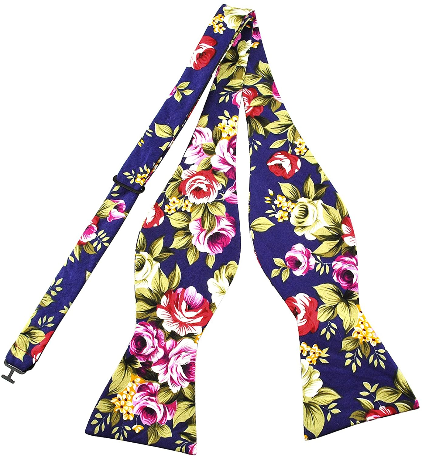 PenSee Mens Self Bow Ties Floral Pattern Printed Cotton Bowtie - Various Styles